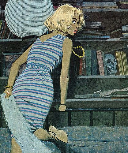 "Robert McGinnis illustration 02 by John ""Pathfinder"" Lester, via Flickr"