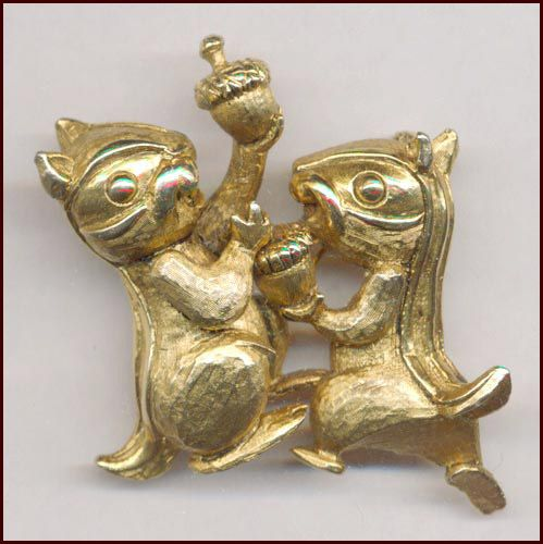 Hattie Carnegie Chipmunks Pin