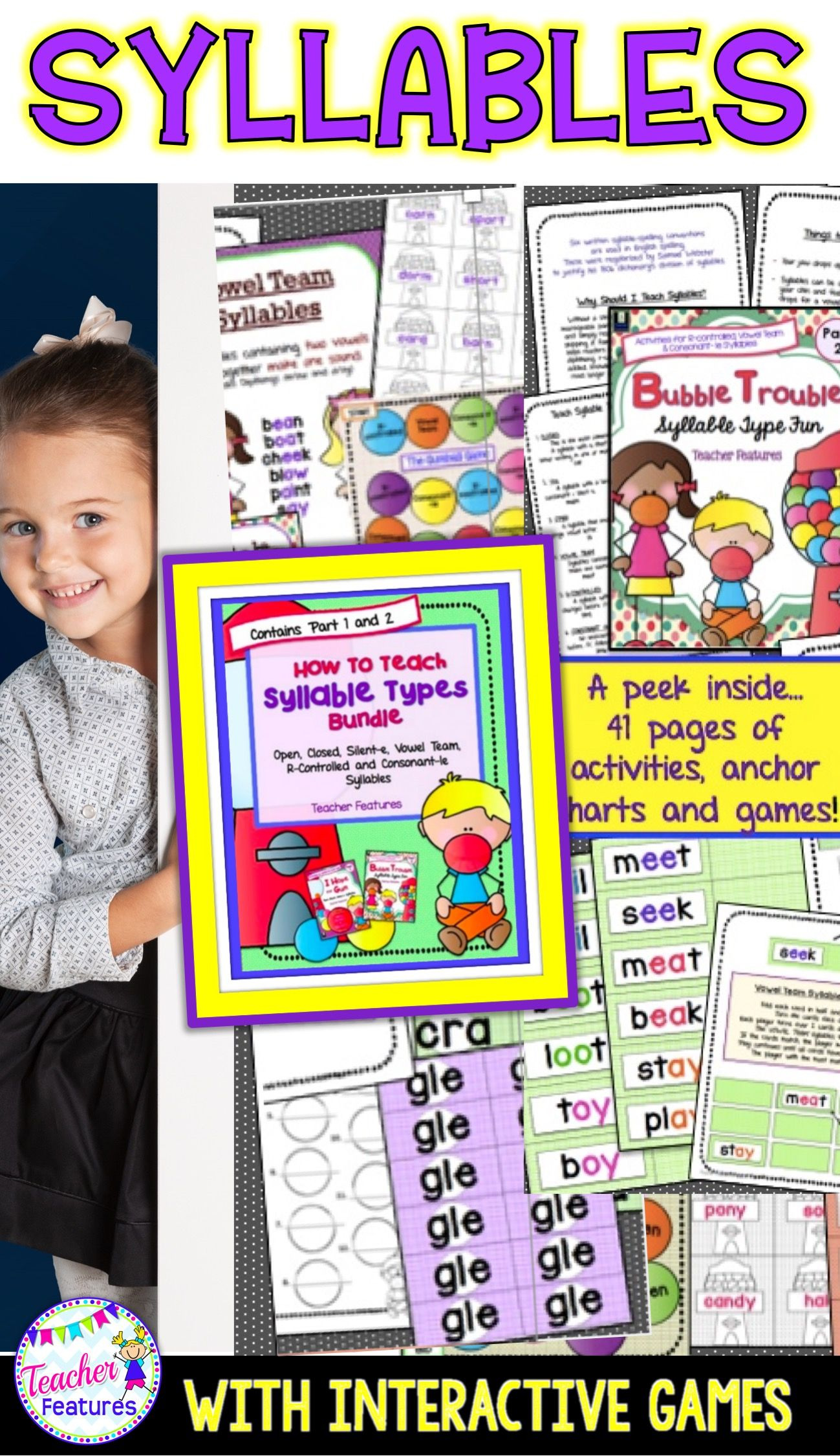 Syllable Types Printables Open And Closed Syllables