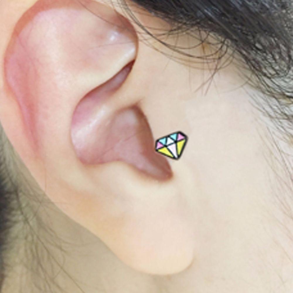 Body piercing earrings  gauge Daimond Shaped Body piercing jewelry  Body piercings