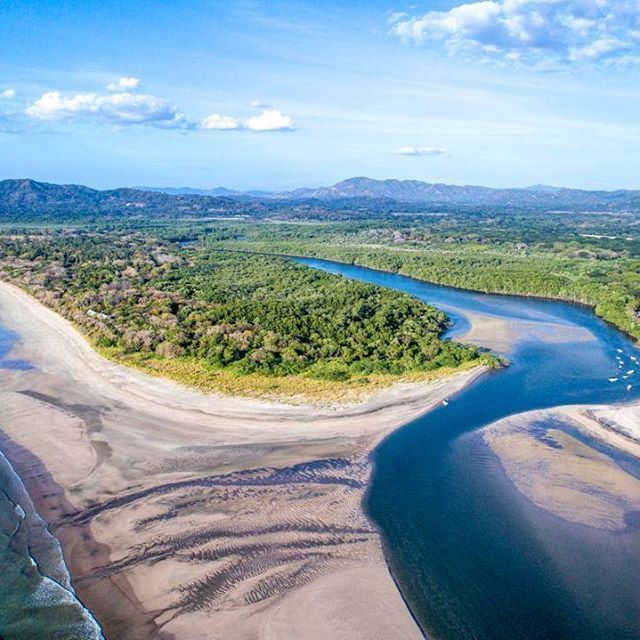 View of the Tamarindo estuary and part of the Marino Las Baulas national  park! You can take a boat tour t… | Beautiful places to visit, Boat tours,  Beautiful places