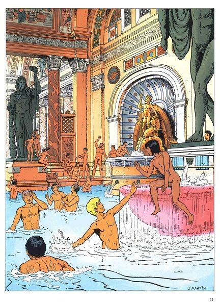 """Résultat de recherche d'images pour """"Photos d'Alix en BD dans les bains romains"""""""