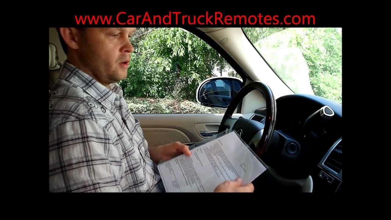 Free Caddy Chevy Gmc Buick Keyless Keyfob Remote Programming