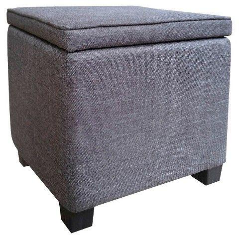 Room Essentials Storage Ottoman With Feet Grey