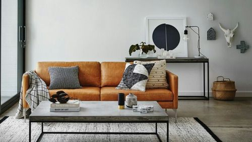 Pin by dwan on room for living pinterest wohnzimmer couchtisch and couch - Betontisch wohnzimmer ...