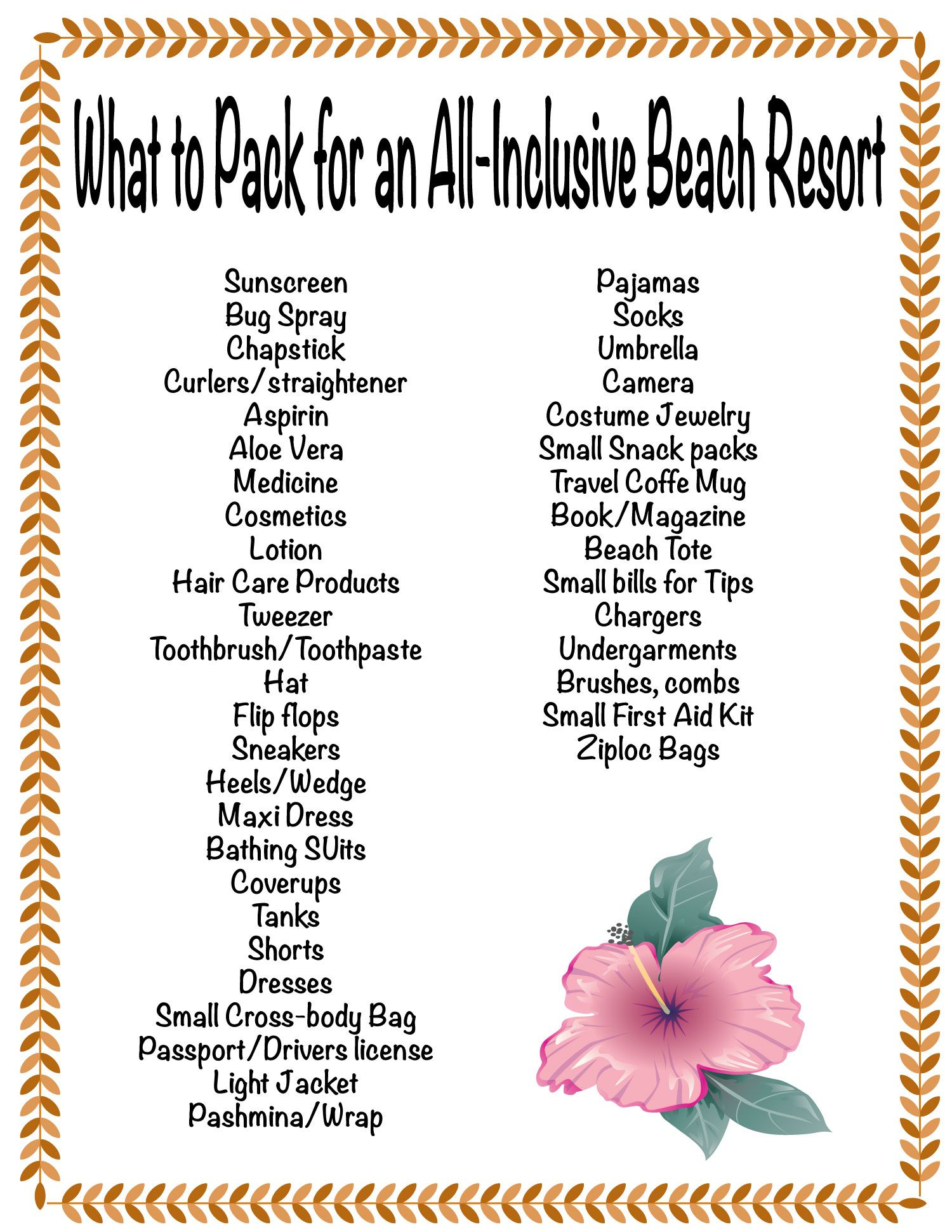 What to Pack for An AllInclusive Beach Vacation