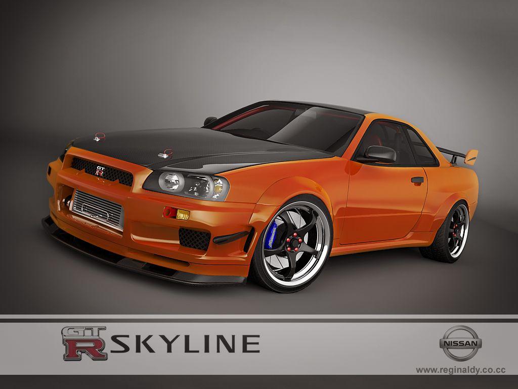 Nissan skyline gtr r34 orange wallpaper http www hdofwallpapers com