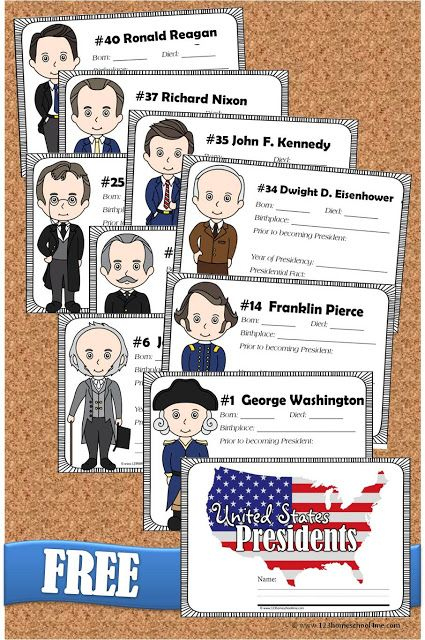 FREE United States Presidents Book for Kids #presidents