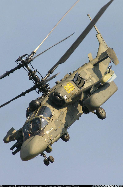 """Russian Kamov Ka-52 Alligator """"Hookum"""" attack helicopter ..."""