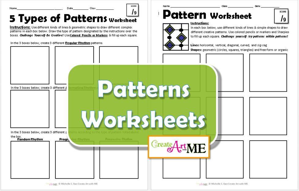 Pattern Worksheets- Explore 5 Types of Patterns | Worksheets ...