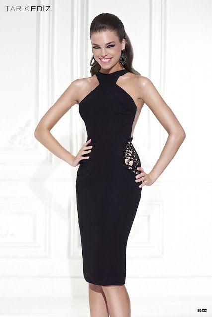 400de2ccf7 Bonitos vestidos de fiesta negros con encaje