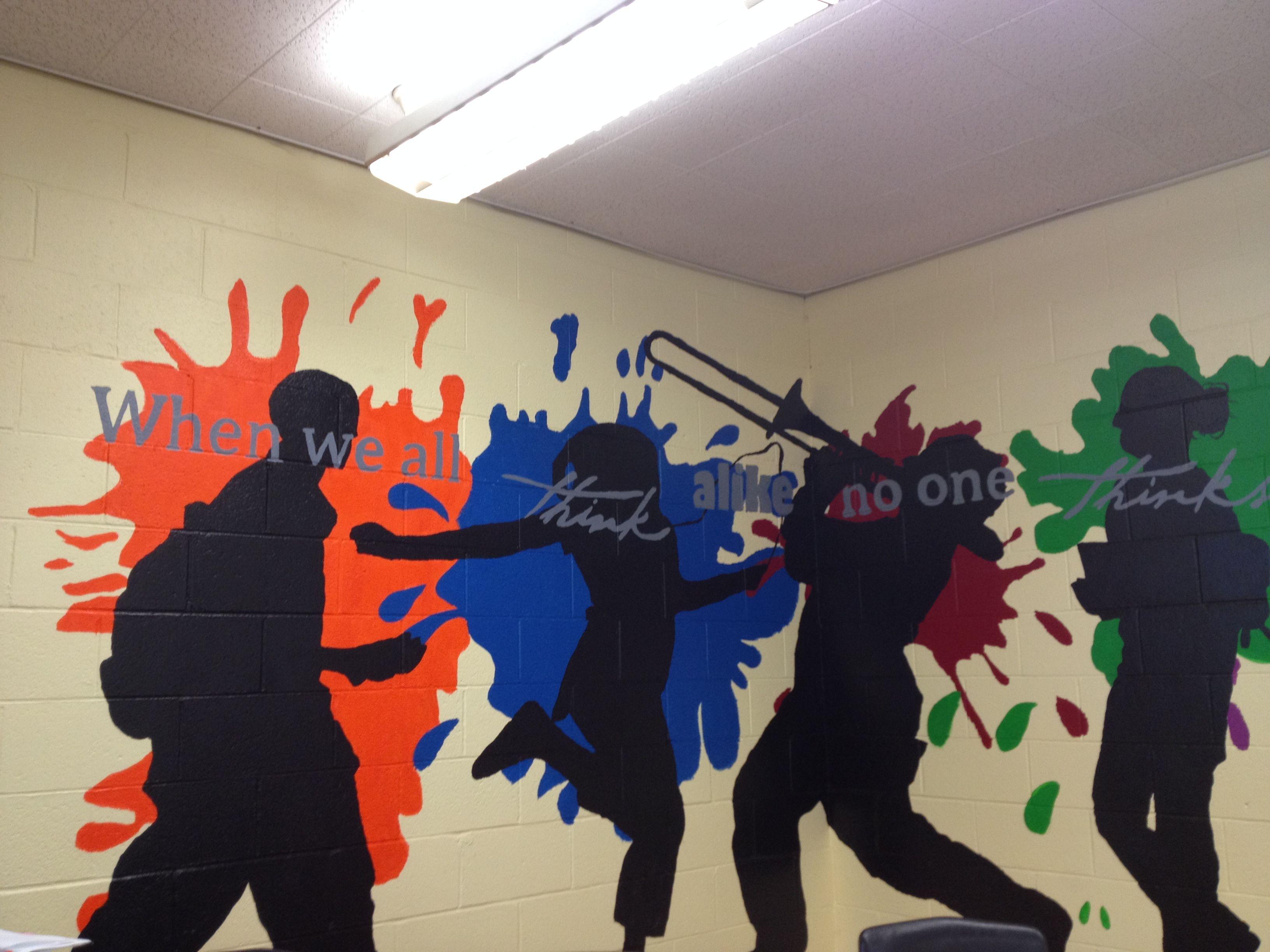 High school murals google search murals pinterest for Elementary school mural