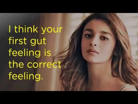 10 Best Quotes By Alia Bhatt video | Best quotes, Quotes ...