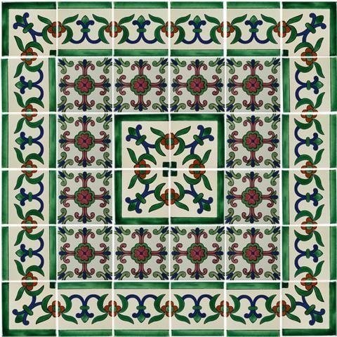 Decorative Mexican Tiles Decorative Mexican Tile Mural  Tiles  Pinterest  Tile Murals