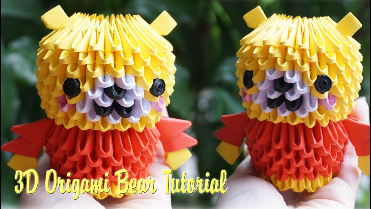 How to make 3d origami little bear diy paper little bear how to make 3d origami little bear diy paper little bear tutorial jeuxipadfo Gallery