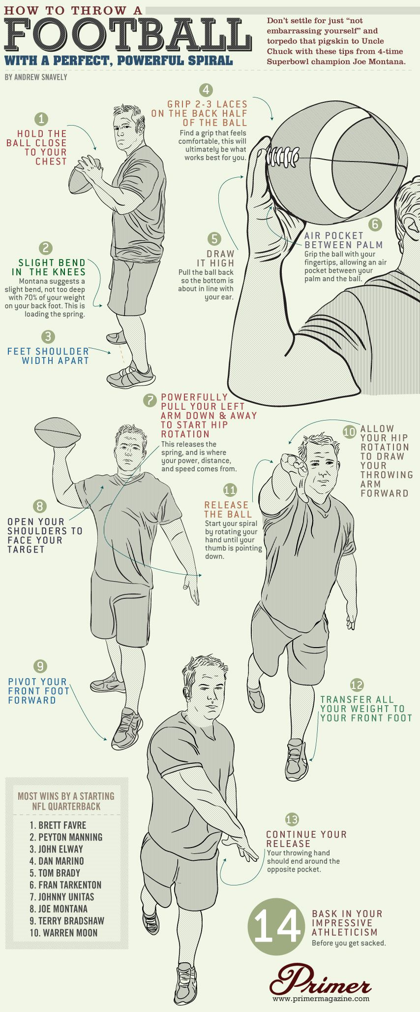 How to throw a football with a perfect powerful spiral