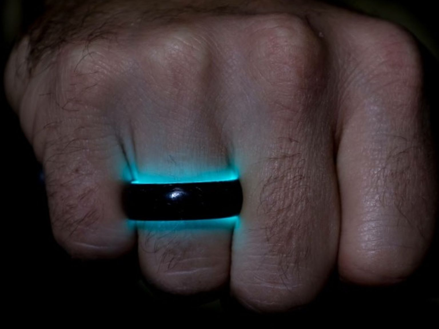 Lume Ring Green Wedding Wedding ring and Carbon fiber