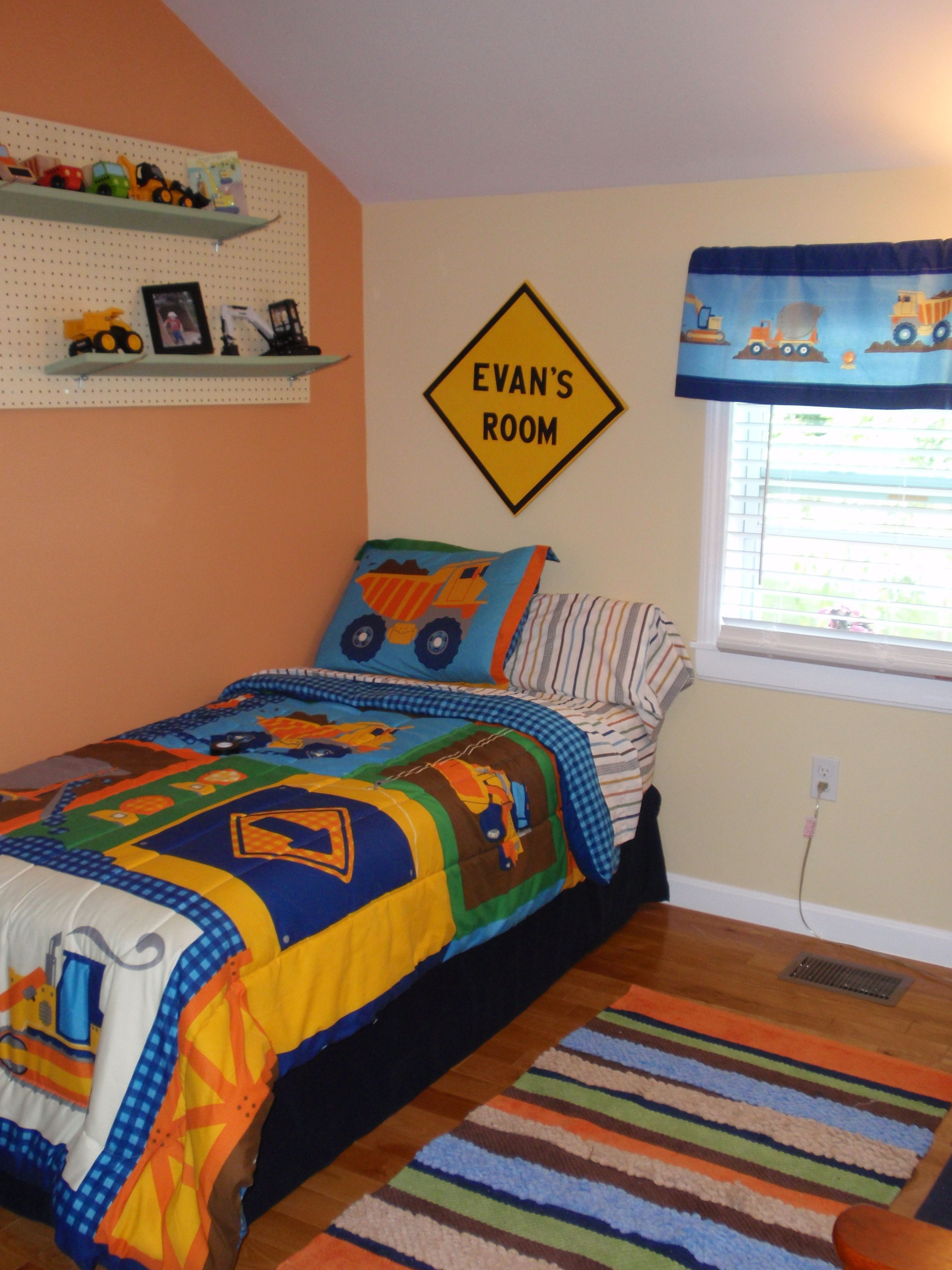 Toddler boy truck bedroom ideas - Construction Truck Themed Toddler Boy S Room Theme Is Circo S Build It Available At