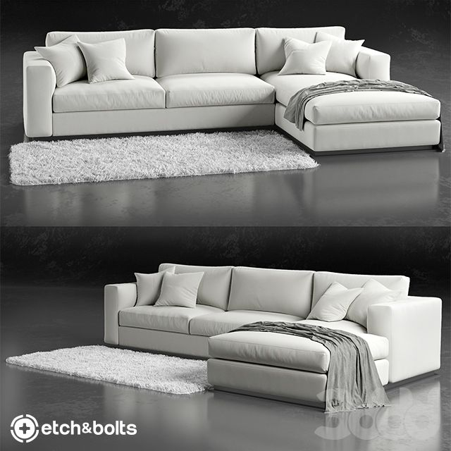 Etch Bolts Eudora L Shaped Sofa More