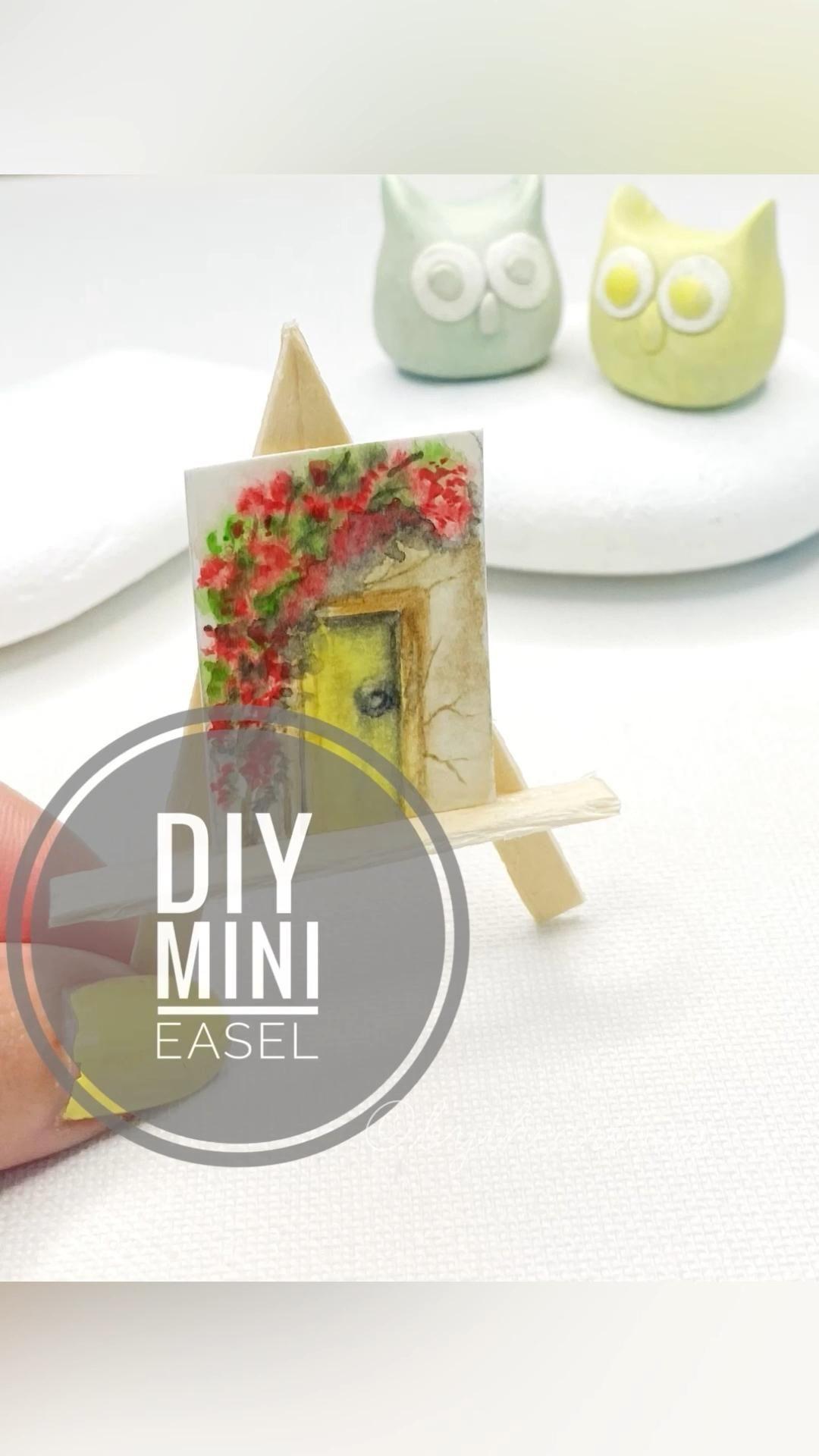 DIY Miniature Artist's Easel
