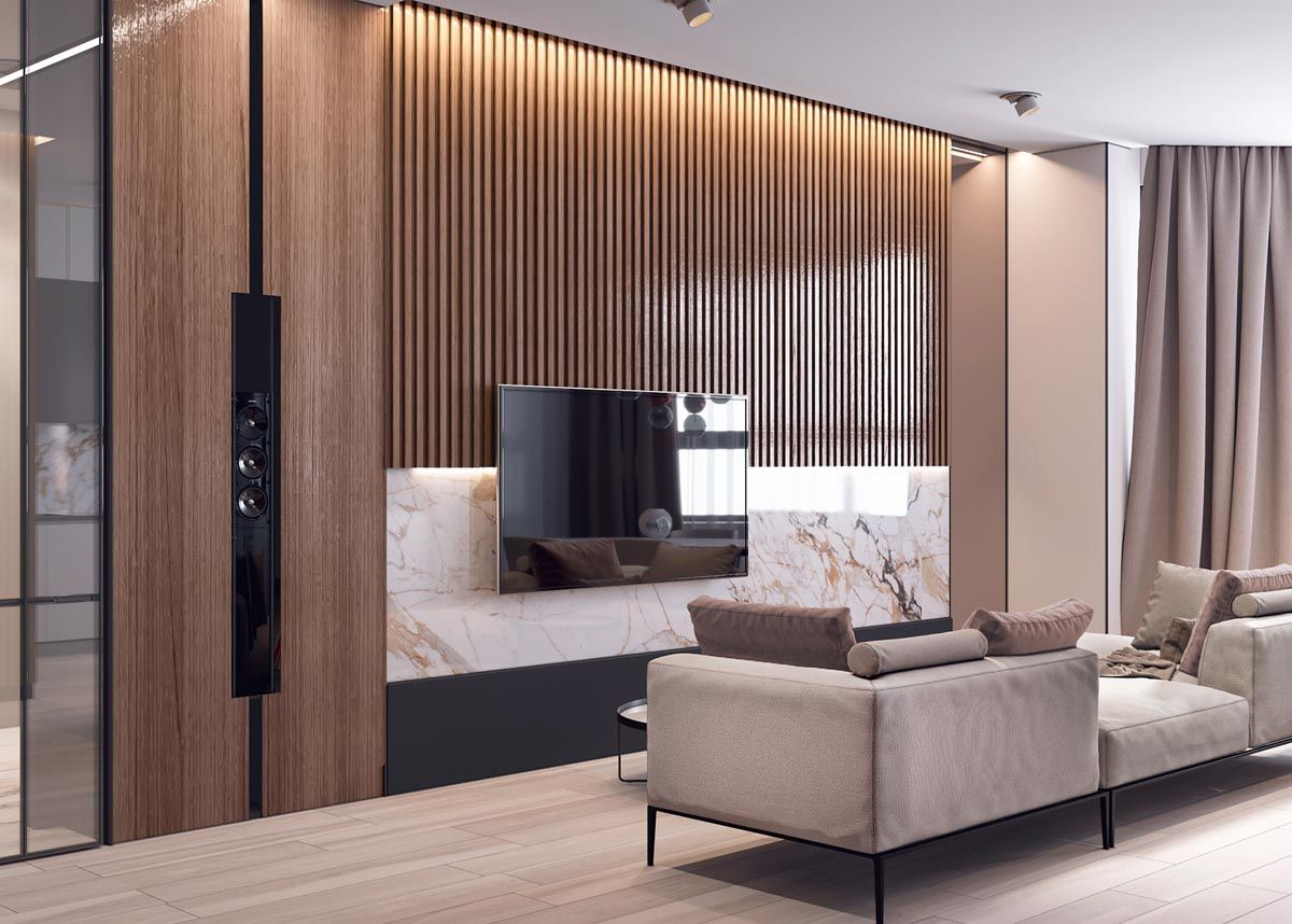 Interior Design Using Marble And Wood Combinations Classy Living