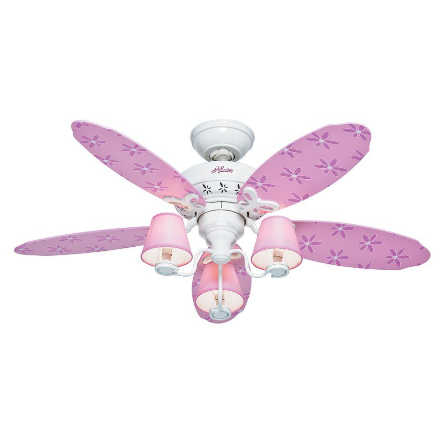 Hunter 44 In Dreamland Pink And White Indoor Kids Ceiling Fan Lowe S Canada