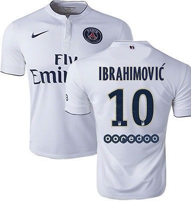 new style 13fcc b2e96 NIKE ZLATAN IBRAHIMOVIC PARIS SAINT-GERMAIN PSG AWAY JERSEY ...