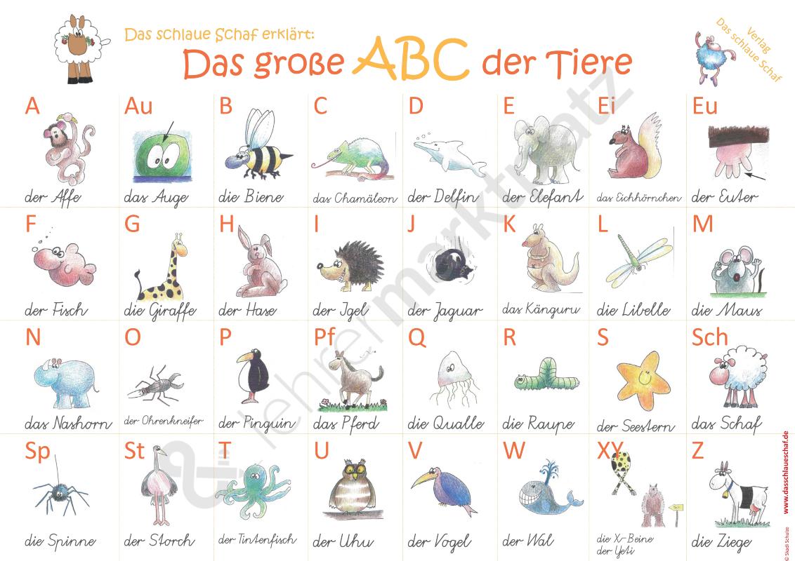Das große ABC der Tiere Unterrichtsmaterial in den