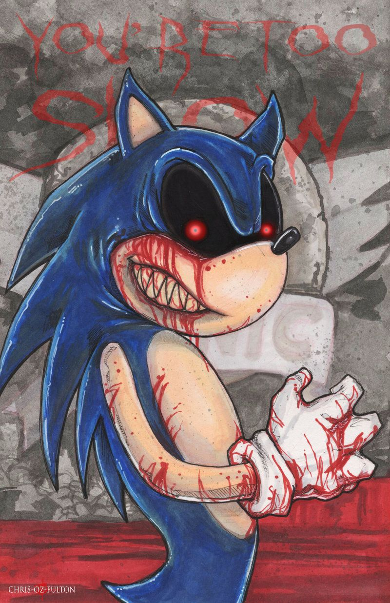 Sonic Exe Creepypasta By Chrisozfulton On Deviantart Creepy Drawings Creepypasta Horror