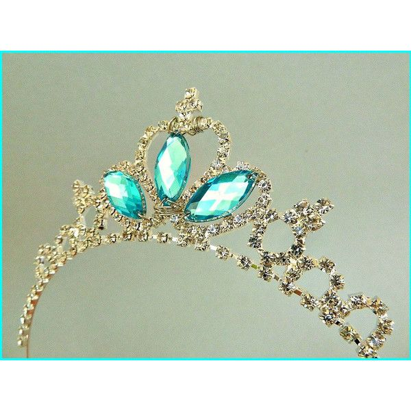 PRINCESS CROWN - Princess Rhinestone crown , Frozen Elsa Party , Elsa... ($23) ❤ liked on Polyvore featuring accessories, hair accessories, jewelry, tiara, disney, disney tiara, head wrap headband, disney headbands и headband hair accessories