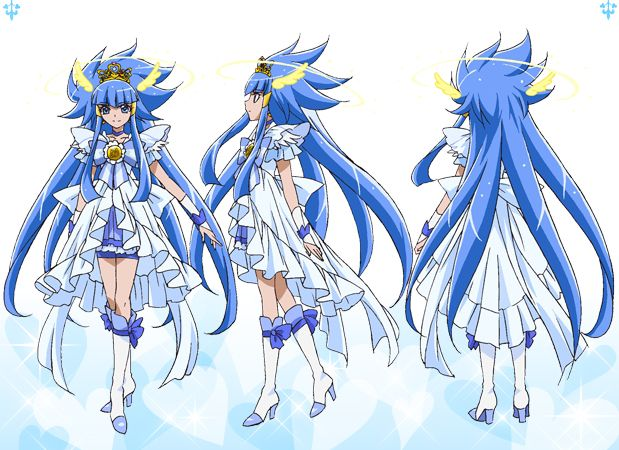 smile princess form references and pegasus moon gorgeous meditation thingy: precure