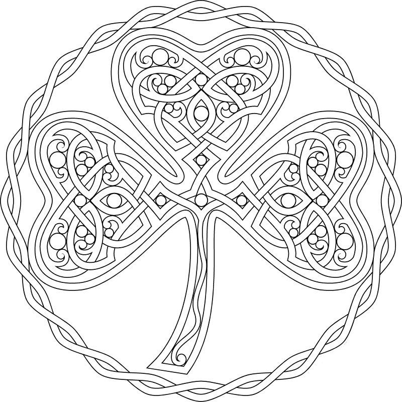 St. Patrick's Day Coloring Page Coloring pages, Shamrock