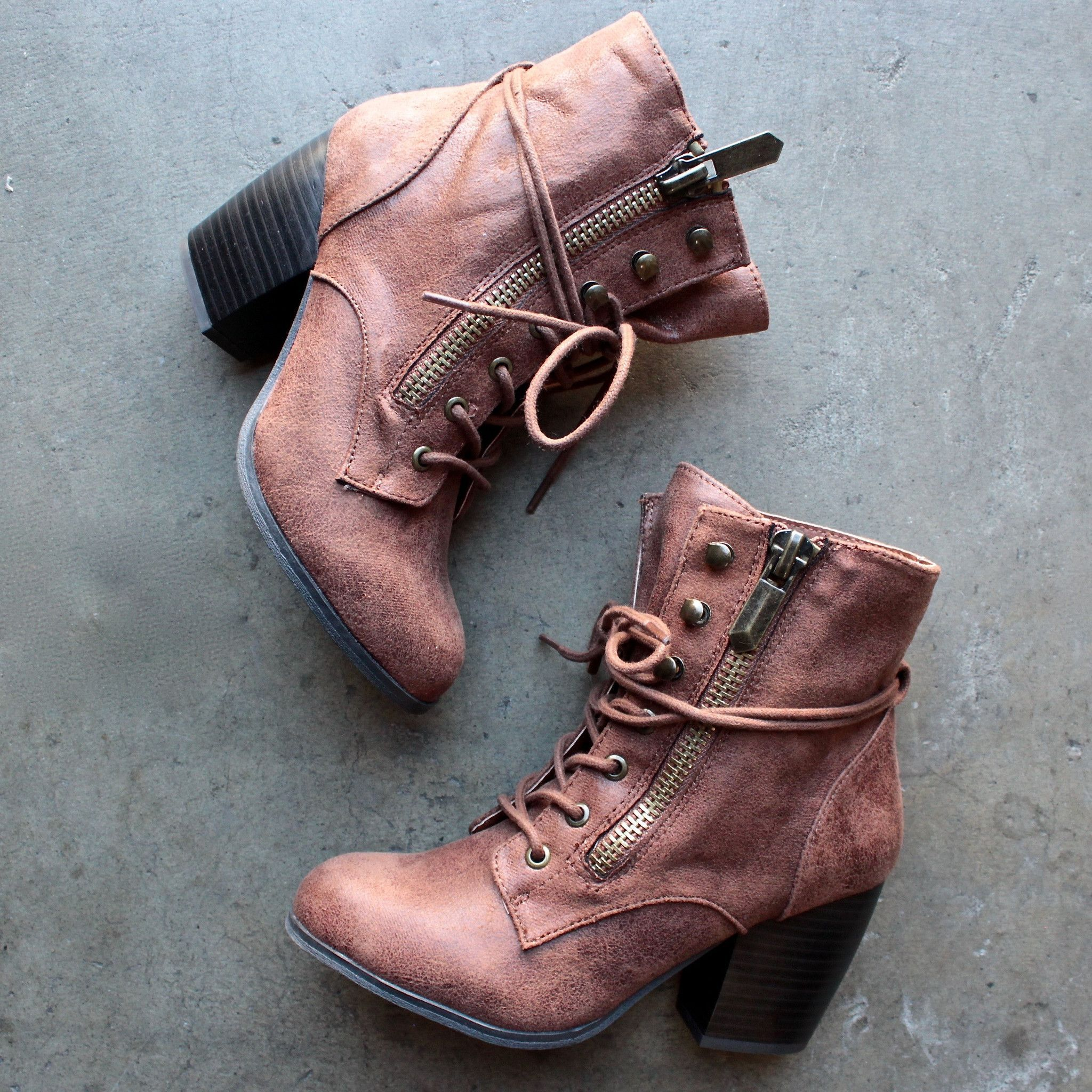 high road suede heel ankle boot (2 colors) Zapatos   Zapatos Pinterest eac53a
