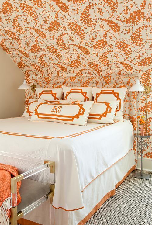50 Fabulous Orange Rooms The Glam Pad Orange Rooms Room Size Rugs Guest Bedrooms