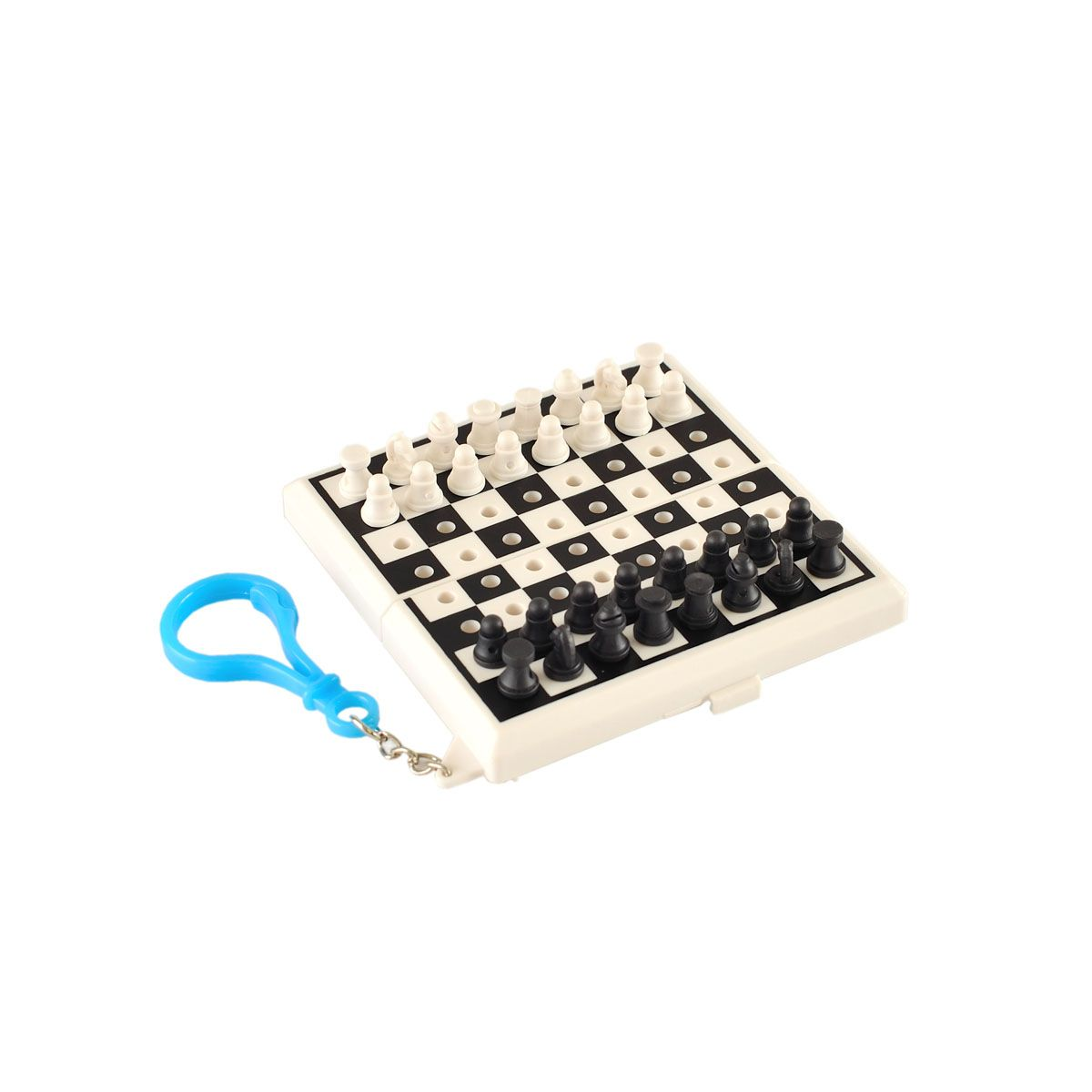 Keychain Colored Chess Pieces Black