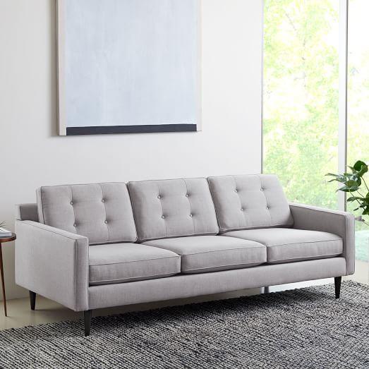 Drake Mid Century 2 Seater Sofa Poly Performance Velvet