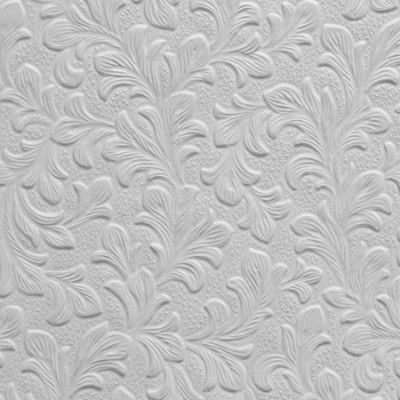 White Paintable Wallpaper Textured Blown Vinyl Thick Wallcoverings Embossed