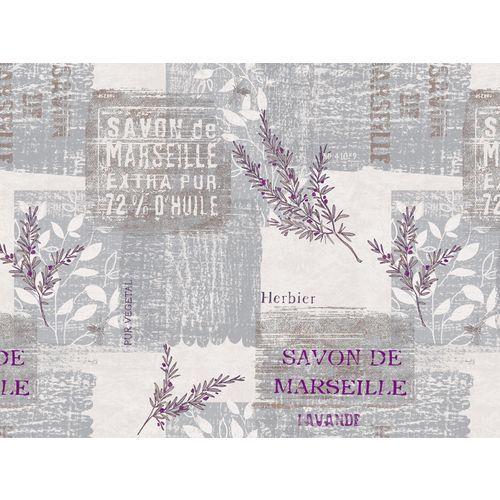 Toile ciré;e au mè;tre Savon Marseillais Gris - 140 x 190