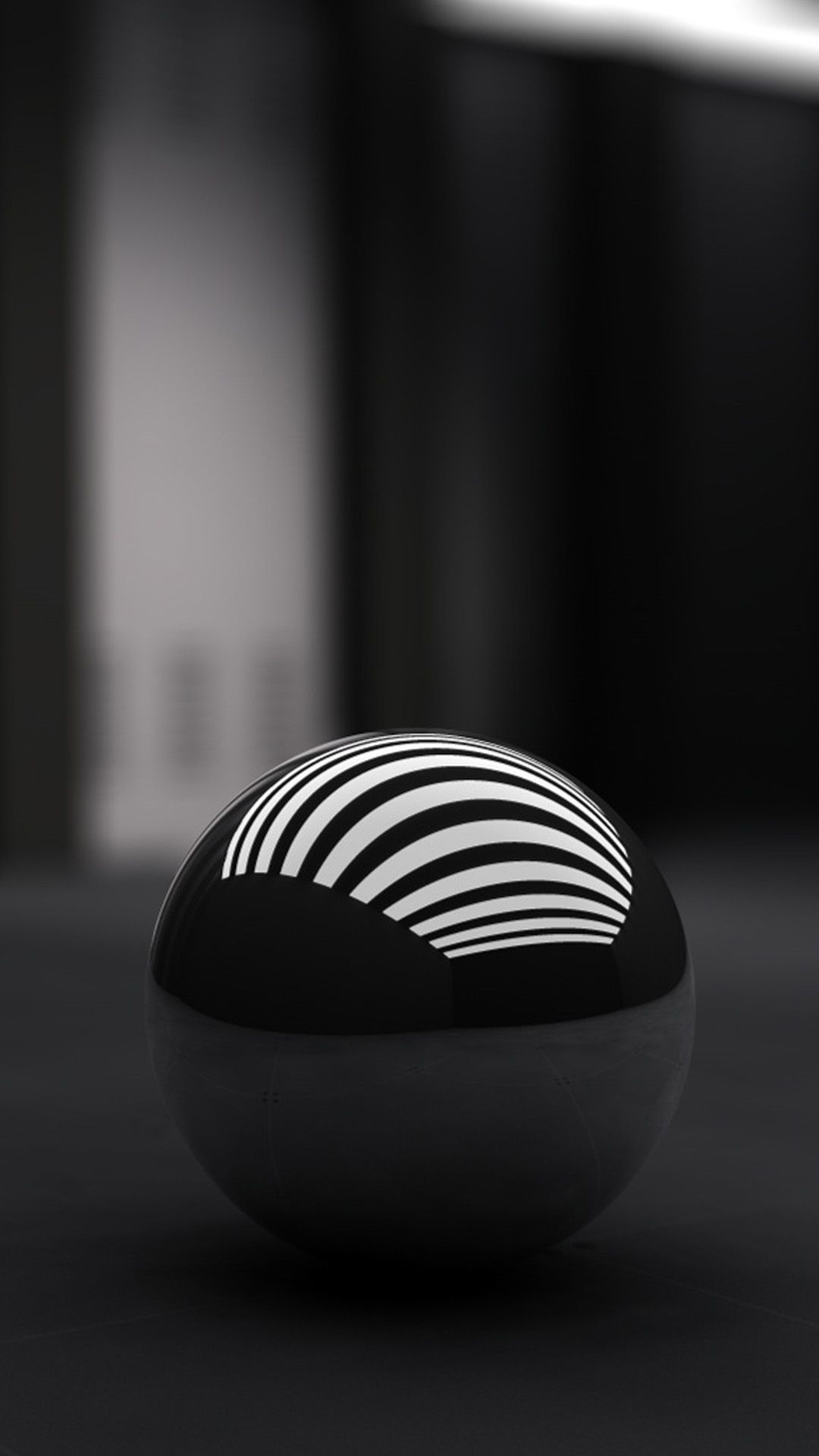 3D Black Ball Galaxy S5 Wallpaper