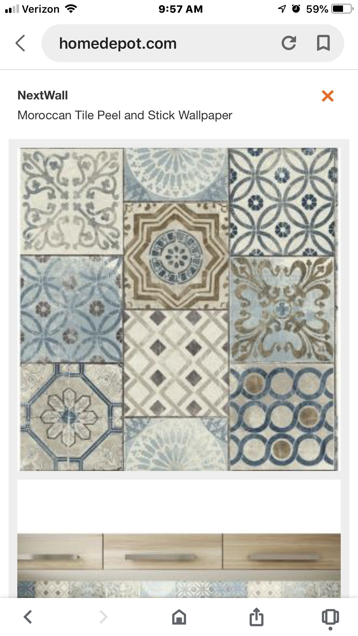Pin By Shermeen El Hakim On Moroccan Wallaper Peel And Stick Wallpaper Moroccan Tile Home Depot