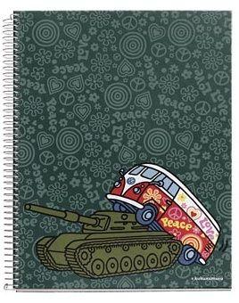 Kukuxumusu Large Cardboard Notebook - Peace