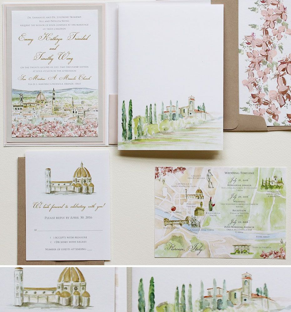 watercolor wedding invitations postage pinterest watercolor