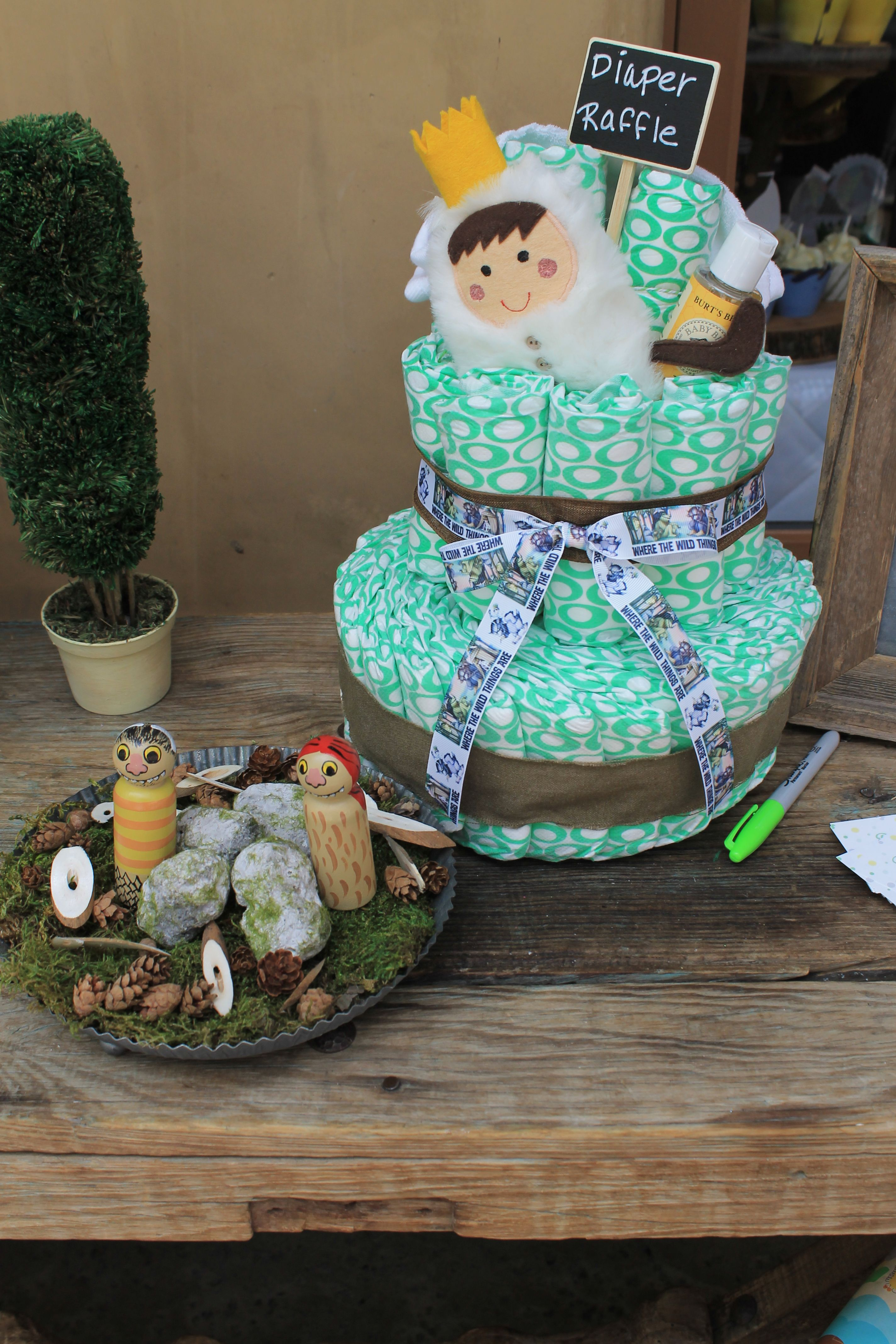 Where The Wild Things Are Diaper Cake Diaper Cakeswild Thingsshower
