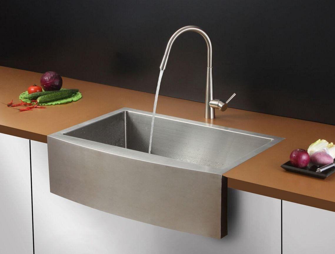33 ruvati stainless steel apron front farm sink rvc2433