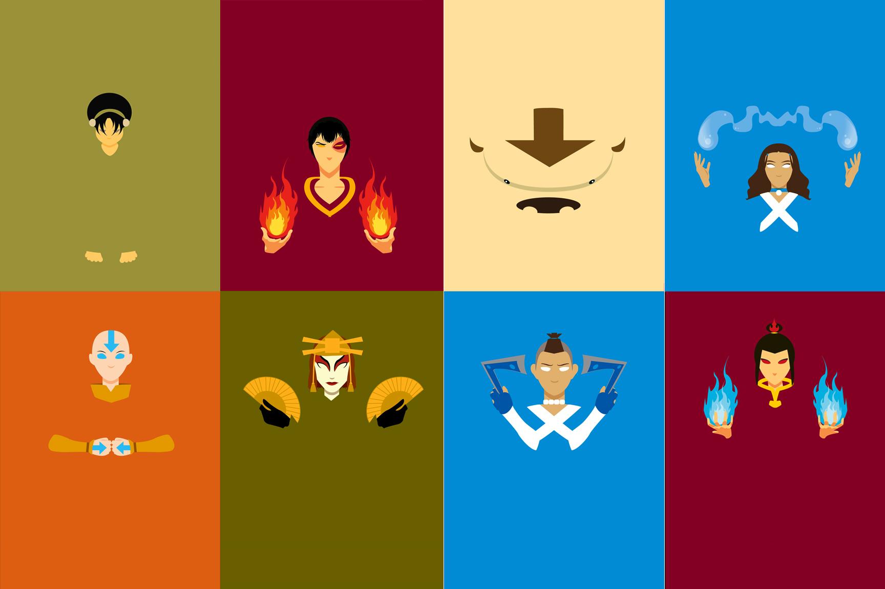 Minimalist Avatar The Last Airbender Poster Avatar The Last Airbender Avatar Characters Avatar
