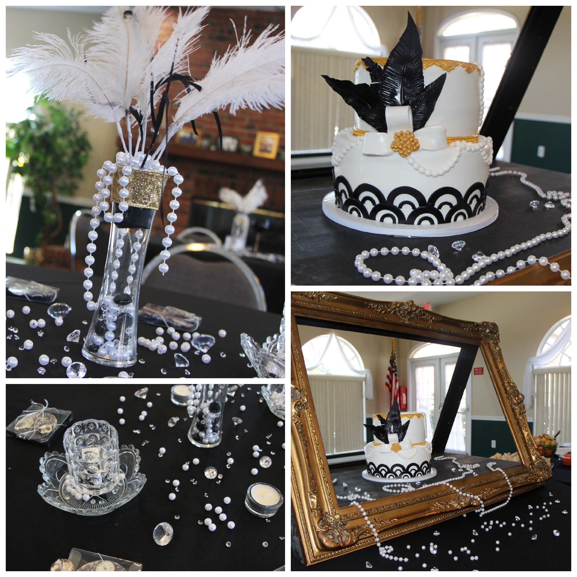 Mottoparty Themen Great Gatsby Party Roaring 20s Party Sweet Tables