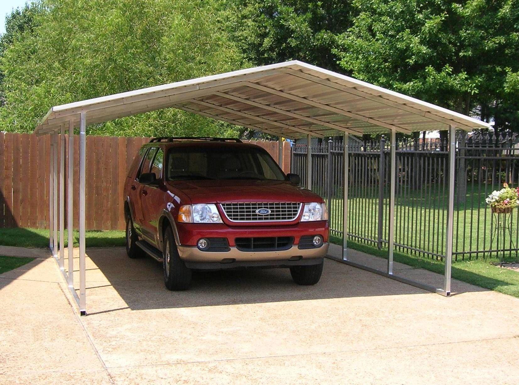 Suburban Series Carports Feature Horizontal Application Of Sheet Metal Roof Panels With A Contemporary A Frame D Carport Covers Steel Carports Aluminum Carport