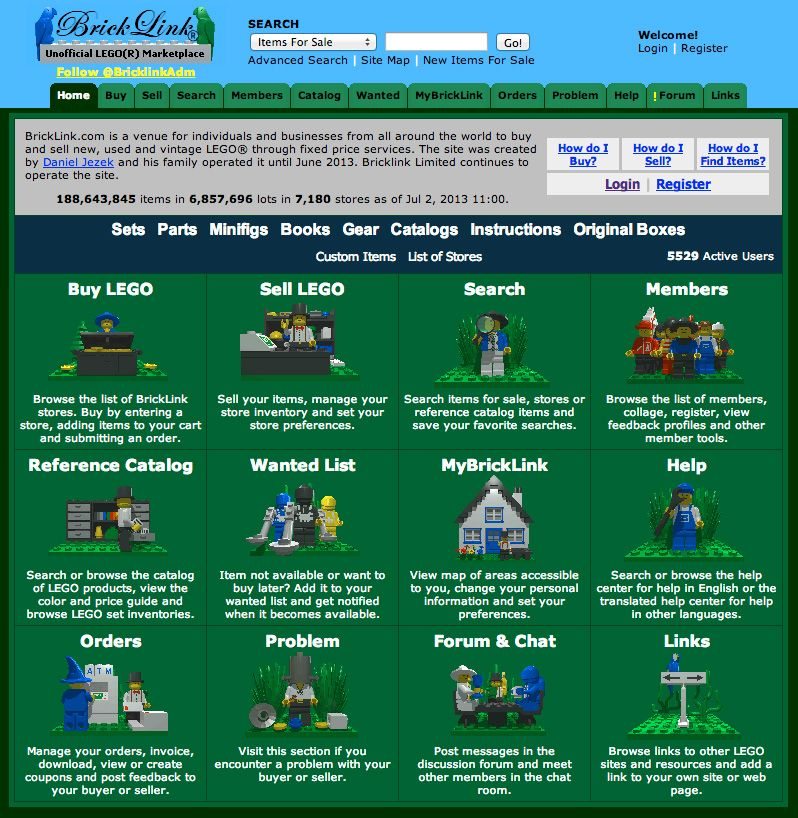 Bricklink is an online ,marketplace where you can buy and sell LEGO ...