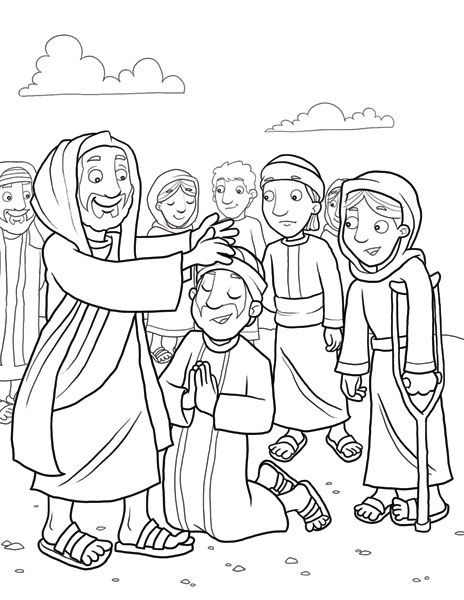 Jesus Heals Many Matthew 4 14 Luke 4 Jesus Coloring Pages