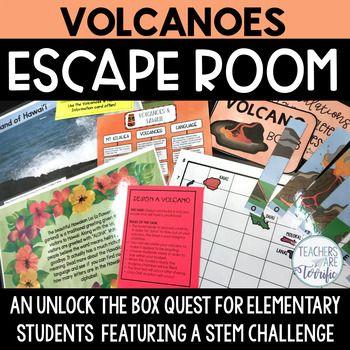 Volcanoes Escape Room | Teachers are terrific